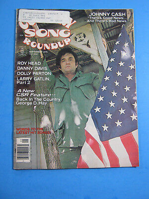 1976 Country Song Roundup Magazine Johnny Cash Dolly Parton Roy Head Gatlin