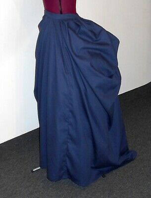 1889 Drape Front Bustle Skirt Victorian Steampunk Bustle Skirts/Free Ship