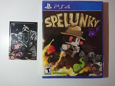 Spelunky for Playstation 4 PS4 with Numbered Card Limited Run Brand New!