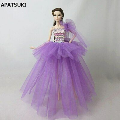 "Purple Rainbow Patchwork Fashion Clothes For 11.5"" Doll Dress Wedding Dresses"