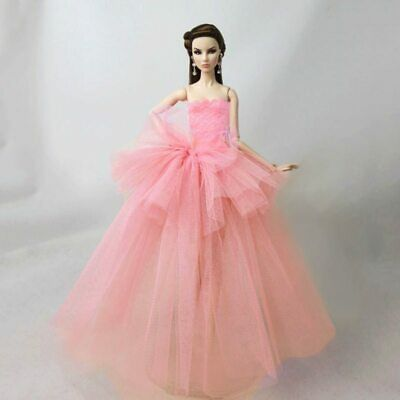 "Pink Patchwork Fashion Clothes For 11.5"" Doll Dress Wedding Dresses Outfits 1/6"