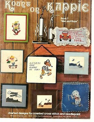 Kount on Kappie - Book 7 - Men and Boys - Counted Cross Stitch Patterns 1979