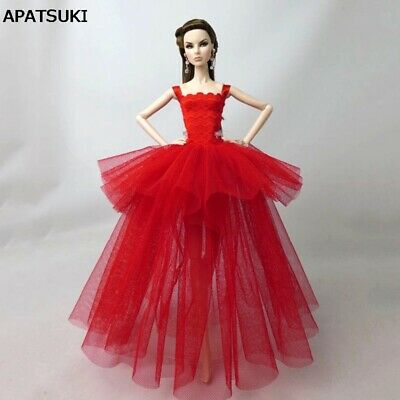 Red Fashion Costume Clothes For 11.5in. Doll Dress Party Dresses Outfits 1/6 Toy