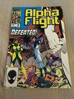 Alpha Flight # 26 Sept 1985 Marvel Comic X-men NM Condition!