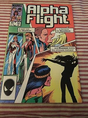 Alpha Flight # 18 1985 Marvel Comic X-men FN Condition!