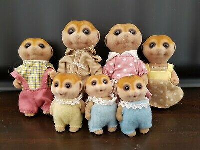Sylvanian Families MEERKAT family with triplets