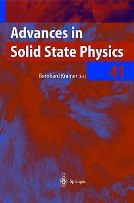 Advances in Solid State Physics (English) Paperback Book Free Shipping!