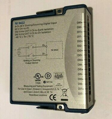 National Instruments NI 9422 8-Channel, 24 V Sinking/Sourcing, Channel-to-Channe