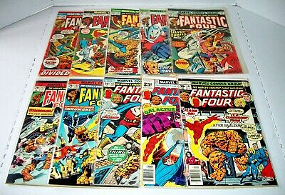 10 Issue Lot Of Bronze Age Fantastic Four #128 To #181 Marvel Comics