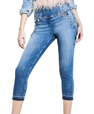 Responsible New Universal Thread High Rise Straight Womens Size 14 Raw Hem Cropped Jeans Easy And Simple To Handle Jeans