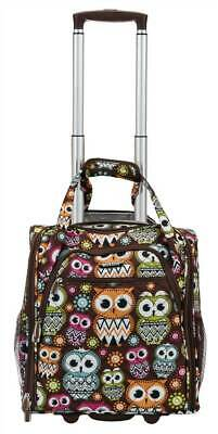 Wheeled Underseat Carry On Luggage with Owl Design [ID 3759016]
