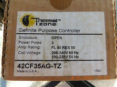 Thermal zone contactor#42CF35AG-tz,3 poles,AmpFL40 Res50 .coil voltage 208/240
