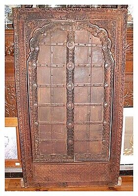 Indian Rajasthan Carved Wood Temple Shutters Windows ANTIQUE ARCHITECTURE