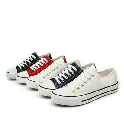 Womens Canvas Shoes Lace Up Casual Couple Breathable Low Top Flat Sneakers shoes