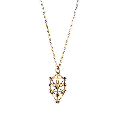 Fashion Pendant Necklace Chain Kabbalah Fruit of Life tree Necklace Golden