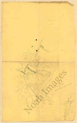Map of Blue Springs TN c1863 repro 14x22