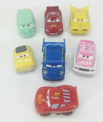 Disney Pixar Cars Micro Drifters mini racers lot Fillmore Luigi DJ Lightning Reb