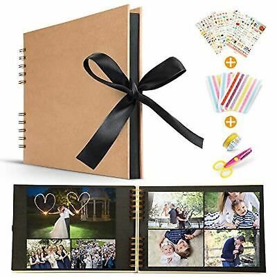 Scrapbook Alblums with Black Pages Handmade DIY Family Scrapbook,Wedding Photo A