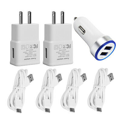 Fast Charging for Samsung Galaxy S8 S9 S10 Plus USB Wall Car Charger 6FT C Cable