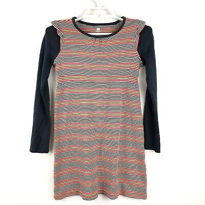 Tea Collection Youth Girls Striped Long Sleeve Cotton Dress Sz 12