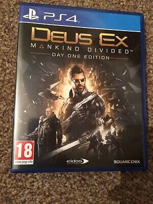 PS4 Deus Ex Mankind Divided Day One Edition Playstation 4 Game