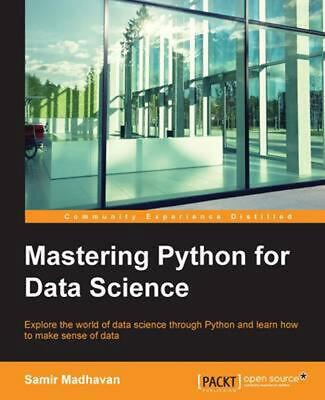 Mastering Python for Data Science by Samir (English) Paperback Book Free Shippin