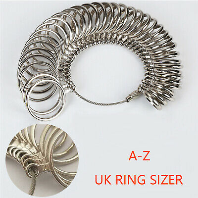 UK Ring Sizer Measure Finger Size For Men and Women Sizes A-Z Reusable Gauge