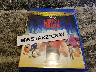 3D Disney Wreck It Ralph Blu-ray Movie (3D Blu-ray Disc & Case/Artwork Only)
