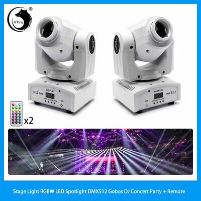 50W U`King 2PCS RGBW Gobo Stage Lihgt DMX512 with Remote Spolight Holiday Party