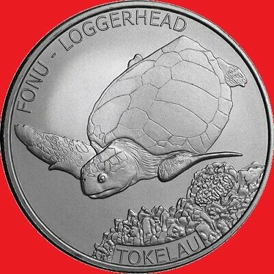 2019 1oz Silver Tokelau Loggerhead Turtle Bullion Coin in COIN CAPSULE