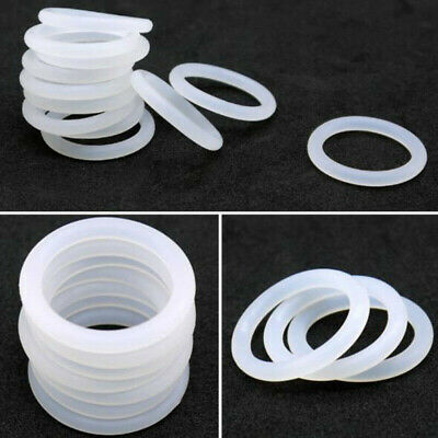 1mm White Food Grade Silicone HIGH TEMP Gasket Washers O-Ring Seal M1 OD=5~40mm