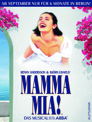VIP-Musical-Paket: Ticket+Getränke: MAMMA MIA am 06.10.2019 in Berlin