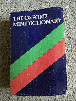 The Oxford Mini Dictionary 1981 Paperback Book g
