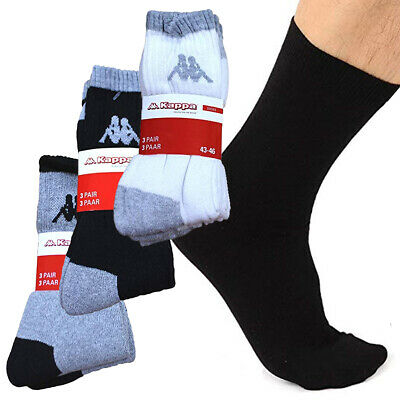 New Kappa Ulfo Mens Sports Everyday Socks 3 Pair Pack White Black Grey RRP £20 ✅