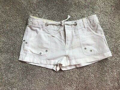 Generation 915 At New Look Girls White Linen Mix Shorts Age 10 Years