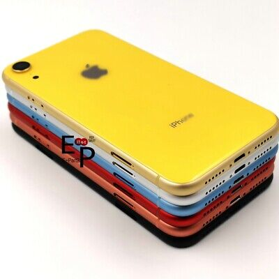 For iPhone XR Housing Back Glass Chassis Frame Battery Door Cover + Buttons NEW
