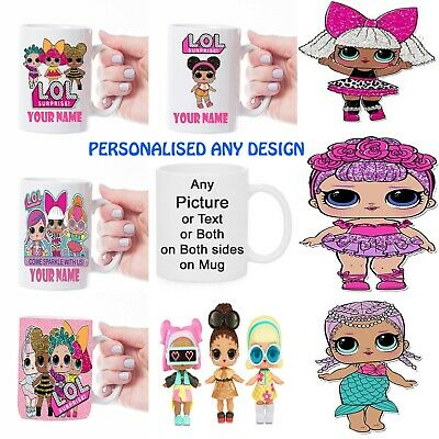 Personalised Mug Text Photo Lol Dolls Friends Any Name Or Message