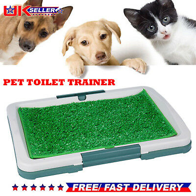 Pet Dog Puppy Toilet Mat Indoor Restroom Training Grass Potty Pad Loo Clean Tray