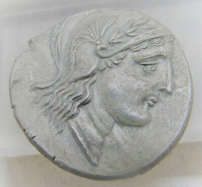 Unresearched Ancient Greek Ar Silver Tetradrachm Coin Weight 16.64 Greek (450 Bc-100 Ad)