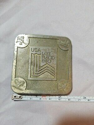 1980 **Xiii Olympic Winter Games - Lake Placid** Belt Buckle