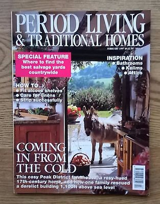 Period Living & Traditional Homes Magazine February 1997 Collectable