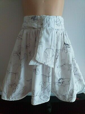 NEXT Girls age 3-4 years white cotton skirt. Worn once.  FAST POSTAGE