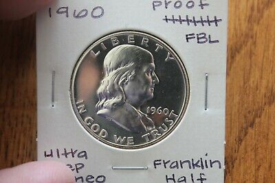 1960    Cameo  Fbl  Unc Proof+++  Franklin Half Dollar