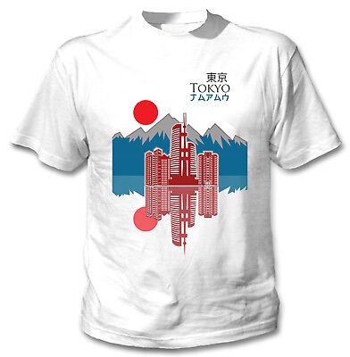 Tokyo city Japan - NEW COTTON WHITE TSHIRT