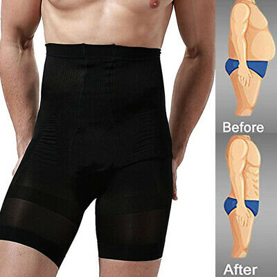 Men Body Shaper Pants High Waist Belly Training Tummy Control Underpant Slimming