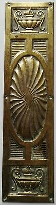 Old Brass on Copper Finger Plate Push Door Victorian Edwardian Reclaimed Salvage
