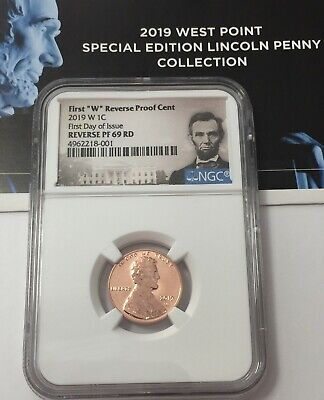 2019-W Ngc Pf69 Lincoln Cent Reverse Proof First Day Issue Portrait Presale