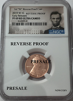 2019-W Ngc Pf69 Lincoln Cent Reverse Proof Early Releases Portrait Label Presale