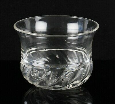 antique 19th Century glass finger bowl rinser with fluted rim and wrythen base