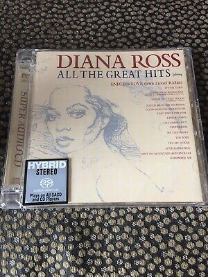 Diana Ross - All Time Greatest Hits - Hybrid Cd / Sacd - Numbered Ltd Edition